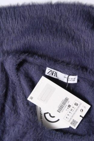Дамски пуловер Zara, Размер S, Цвят Син, 74% полиамид, 16% вискоза, 10% полиестер, Цена 13,80лв.