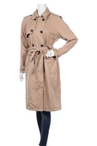 Дамски шлифер Pimkie, Размер L, Цвят Бежов, Полиестер, Цена 28,67лв.