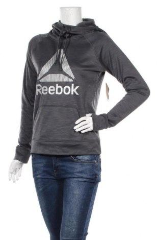 Дамски суичър Reebok, Размер XS, Цвят Сив, Полиестер, Цена 41,00лв.