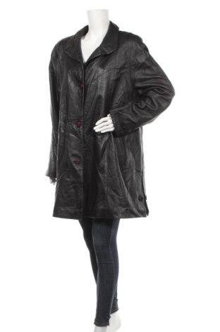 Дамско кожено палто Cabrini, Размер XL, Цвят Черен, Естествена кожа, Цена 24,15лв.