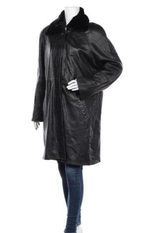 Дамско кожено палто Joy, Размер L, Цвят Черен, Естествена кожа, Цена 16,40лв.