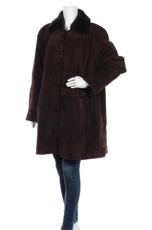 Дамско кожено палто Joy, Размер XXL, Цвят Кафяв, Естествена кожа, Цена 44,73лв.