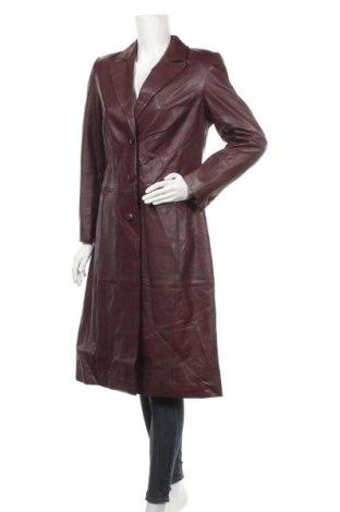 Дамско кожено палто Madeleine, Размер S, Цвят Червен, Естествена кожа, Цена 35,91лв.