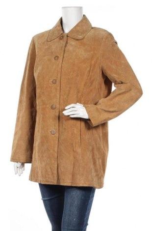 Δερμάτινο γυναικείο παλτό Outbrook, Μέγεθος M, Χρώμα  Μπέζ, Φυσικό σουέτ, Τιμή 15,86€