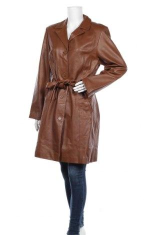 Дамско кожено палто Raberg, Размер L, Цвят Кафяв, Естествена кожа, Цена 131,25лв.