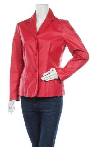 Дамско кожено сако Nine West, Размер M, Цвят Розов, Естествена кожа, Цена 111,72лв.