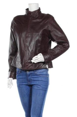 Дамско кожено сако S.Oliver, Размер L, Цвят Червен, Естествена кожа, Цена 66,36лв.