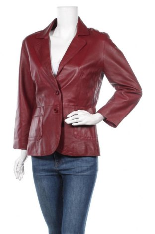 Дамско кожено сако Trendzone, Размер M, Цвят Червен, Естествена кожа, Цена 53,24лв.
