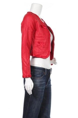 Дамско кожено яке, Размер XXS, Цвят Червен, Еко кожа, Цена 32,29лв.