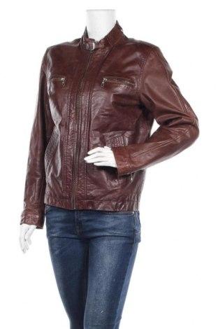 Дамско кожено яке, Размер L, Цвят Кафяв, Естествена кожа, Цена 63,21лв.