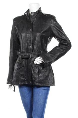 Дамско кожено яке, Размер L, Цвят Черен, Естествена кожа, Цена 57,33лв.