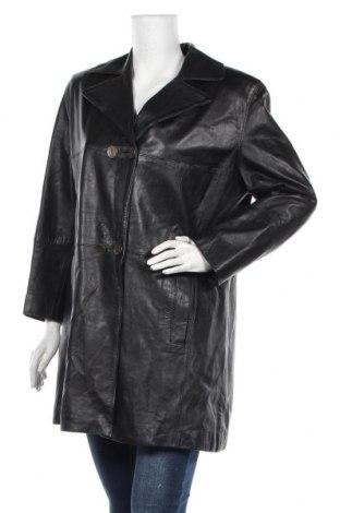Дамско кожено яке, Размер L, Цвят Черен, Естествена кожа, Цена 21,01лв.