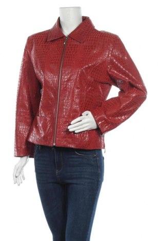 Дамско кожено яке, Размер M, Цвят Червен, Естествена кожа, Цена 72,19лв.