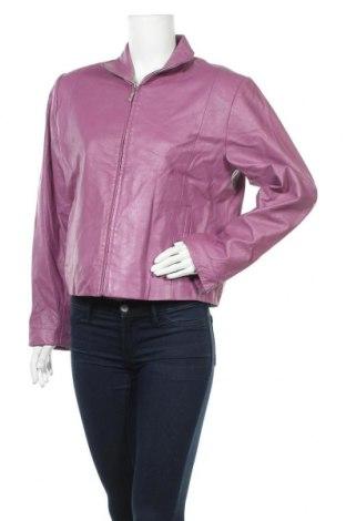 Дамско кожено яке, Размер M, Цвят Лилав, Естествена кожа, Цена 20,74лв.