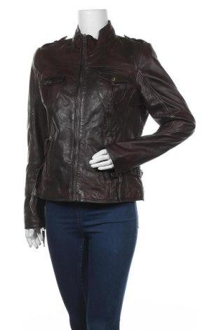 Дамско кожено яке, Размер L, Цвят Кафяв, Естествена кожа, Цена 41,58лв.