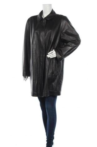 Дамско кожено яке, Размер XL, Цвят Черен, Естествена кожа, Цена 35,28лв.