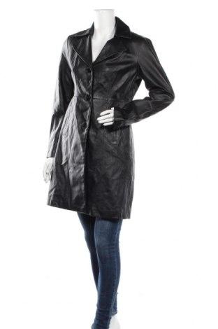Дамско кожено палто, Размер S, Цвят Черен, Естествена кожа, Цена 105,84лв.
