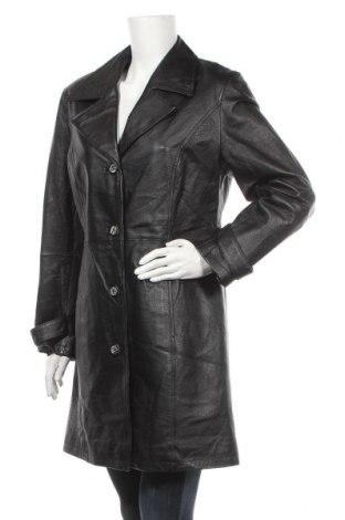 Дамско кожено яке, Размер L, Цвят Черен, Естествена кожа, Цена 37,38лв.