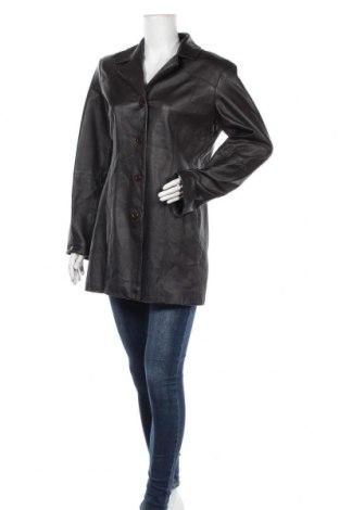 Дамско кожено яке, Размер L, Цвят Кафяв, Естествена кожа, Цена 32,13лв.