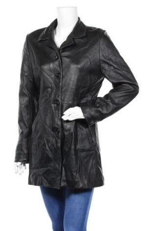 Дамско кожено яке, Размер M, Цвят Черен, Естествена кожа, Цена 27,41лв.