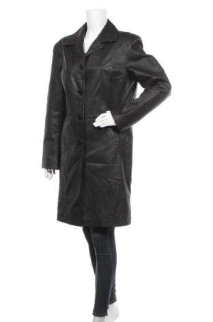 Дамско кожено яке, Размер XL, Цвят Черен, Естествена кожа, Цена 24,15лв.