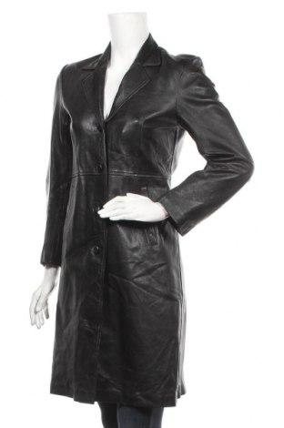 Дамско кожено яке, Размер S, Цвят Черен, Естествена кожа, Цена 27,72лв.