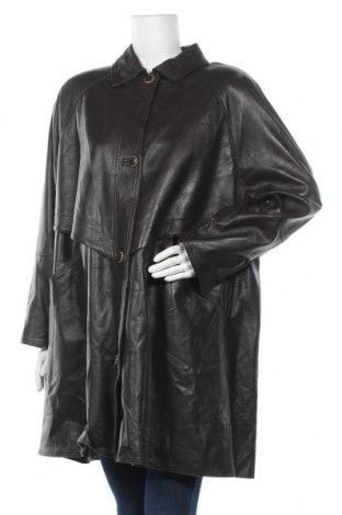 Дамско кожено яке, Размер XL, Цвят Кафяв, Естествена кожа, Цена 25,52лв.