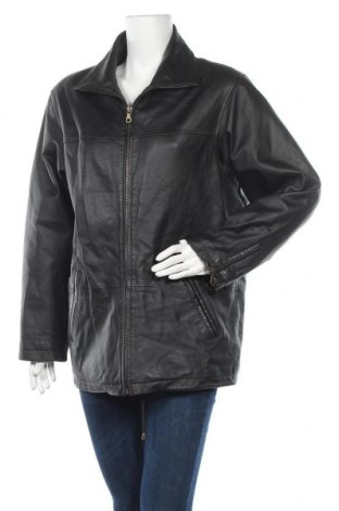 Дамско кожено яке, Размер M, Цвят Черен, Естествена кожа, Цена 18,60лв.