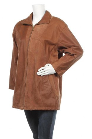 Дамско кожено яке, Размер S, Цвят Кафяв, Естествена кожа, Цена 17,64лв.