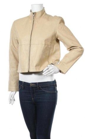 Γυναικείο δερμάτινο μπουφάν, Μέγεθος M, Χρώμα  Μπέζ, Γνήσιο δέρμα, Τιμή 18,64€