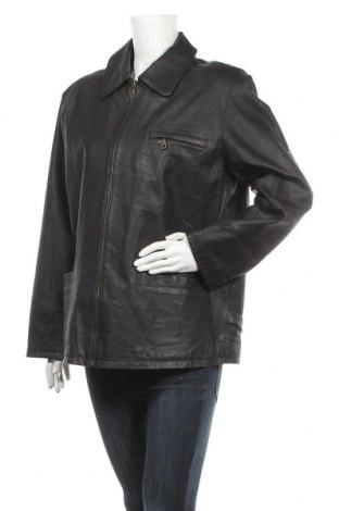 Дамско кожено яке, Размер XL, Цвят Черен, Естествена кожа, Цена 83,79лв.