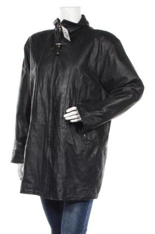 Γυναικείο δερμάτινο μπουφάν, Μέγεθος XL, Χρώμα Μαύρο, Γνήσιο δέρμα, Τιμή 15,68€