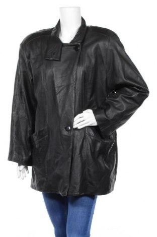 Дамско кожено яке, Размер XL, Цвят Черен, Естествена кожа, Цена 32,71лв.