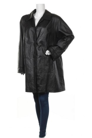 Дамски кожен шлифер 4/5/6 Fashion Concept, Размер XXL, Цвят Черен, Естествена кожа, Цена 81,80лв.