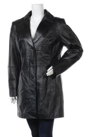 Дамско кожено яке 5th Avenue, Размер XL, Цвят Черен, Естествена кожа, Цена 40,32лв.