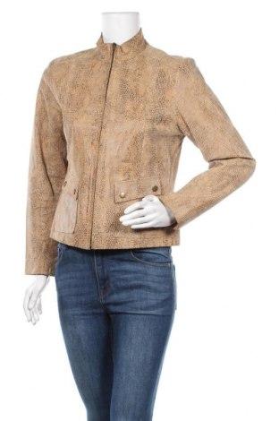 Дамско кожено яке Alfani, Размер M, Цвят Кафяв, Естествена кожа, Цена 20,74лв.