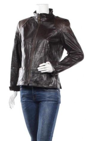 Дамско кожено яке Aygill's, Размер S, Цвят Кафяв, Естествена кожа, Цена 31,92лв.