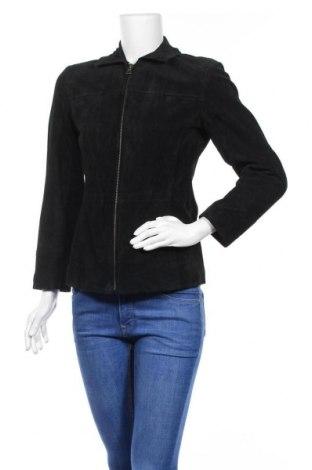Дамско кожено яке Bernardo, Размер XS, Цвят Черен, Естествен велур, Цена 31,24лв.