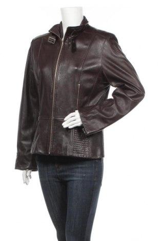 Дамско кожено яке Biba, Размер L, Цвят Кафяв, Естествена кожа, Цена 71,66лв.
