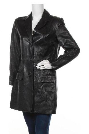 Дамско кожено палто Blacky Dress, Размер M, Цвят Черен, Естествена кожа, Цена 22,49лв.
