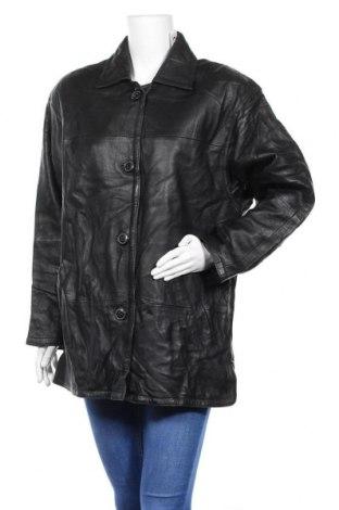 Дамско кожено яке Cabrini, Размер L, Цвят Черен, Естествена кожа, Цена 17,22лв.