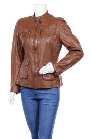 Дамско кожено яке Cabrini, Размер M, Цвят Кафяв, Естествена кожа, Цена 88,20лв.