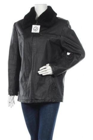 Γυναικείο δερμάτινο μπουφάν Canda, Μέγεθος L, Χρώμα Μαύρο, Γνήσιο δέρμα, Τιμή 15,46€