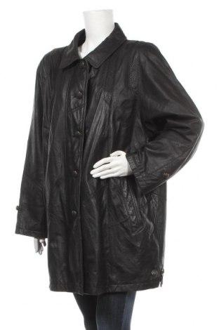 Дамско кожено яке Canda, Размер XL, Цвят Черен, Естествена кожа, Цена 27,09лв.