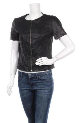 Γυναικείο δερμάτινο μπουφάν Decjuba, Μέγεθος L, Χρώμα Μαύρο, Δερματίνη, Τιμή 15,68€