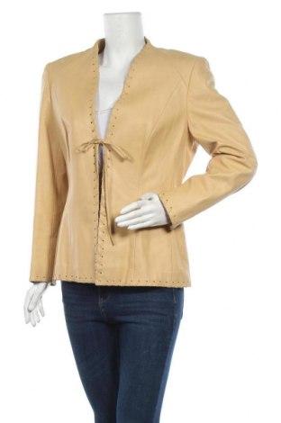 Дамско кожено яке Escada, Размер L, Цвят Бежов, Естествена кожа, Цена 87,89лв.