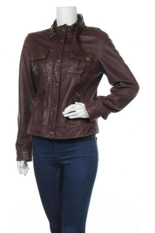 Дамско кожено яке Esprit, Размер S, Цвят Кафяв, Естествена кожа, Цена 32,13лв.