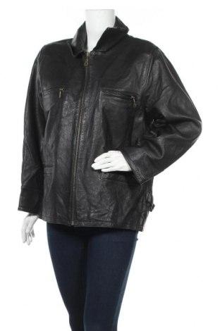 Дамско кожено яке Front Line, Размер XL, Цвят Черен, Естествена кожа, Цена 32,55лв.