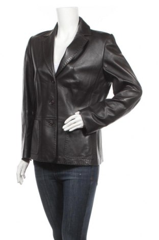Дамско кожено яке Gerry Weber, Размер L, Цвят Черен, Естествена кожа, Цена 64,68лв.