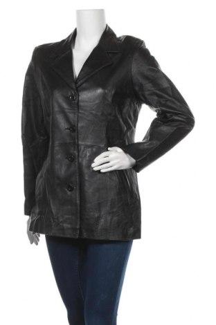 Дамско кожено яке Giovanni, Размер S, Цвят Черен, Естествена кожа, Цена 24,57лв.